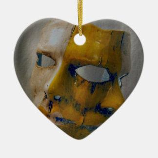 カーニバルのマスク セラミックオーナメント