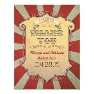 カーニバルの結婚式のサンキューカード カード