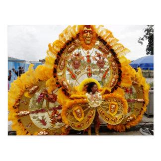 カーニバルのMasquerader、トリニダードトバゴ ポストカード