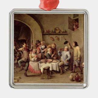 カーニバル: 「Le Roi Boit」、1690年(銅の油) メタルオーナメント