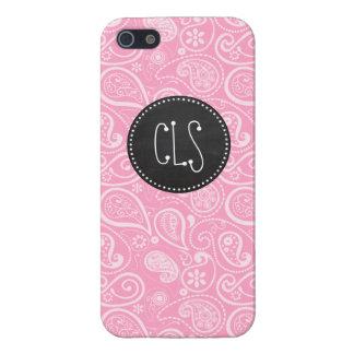カーネーションのピンクのペイズリー; ヴィンテージの黒板の一見 iPhone 5 カバー