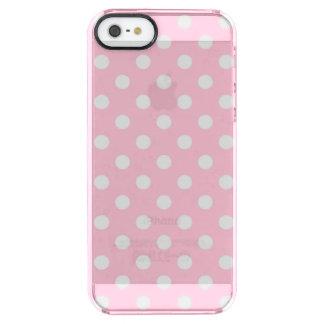 カーネーションのピンクの水玉模様パターン クリア iPhone SE/5/5sケース