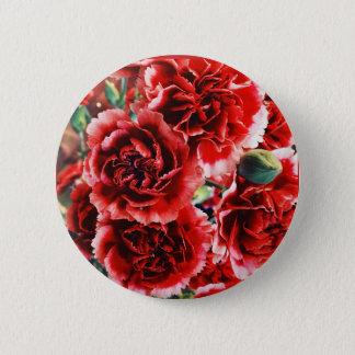 カーネーションの花柄ボタン 5.7CM 丸型バッジ