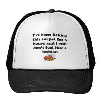 カーペットを舐めること トラッカー帽子