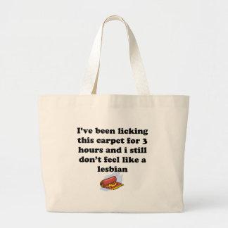 カーペットを舐めること ラージトートバッグ