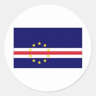 カーボベルデ共和国の国旗 ラウンドシール