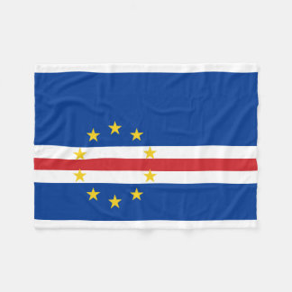 カーボベルデ共和国の国民の世界の旗 フリースブランケット