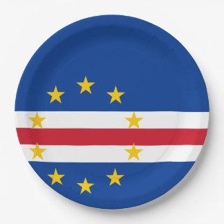 カーボベルデ共和国の旗 ペーパープレート