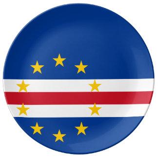 カーボベルデ共和国の旗 磁器プレート
