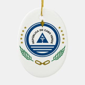 カーボベルデ共和国の紋章付き外衣 セラミックオーナメント