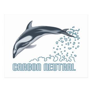 カーボン中立保存/イルカの跳躍 ポストカード