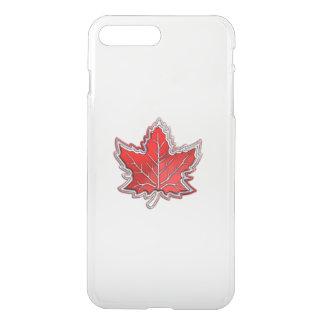 カーボン繊維のカナダのアメリカハナノキの葉 iPhone 8 PLUS/7 PLUS ケース