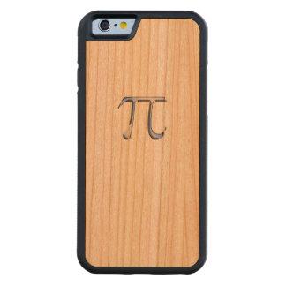 カーボン繊維のスタイルのPiの記号のようなクロム CarvedチェリーiPhone 6バンパーケース