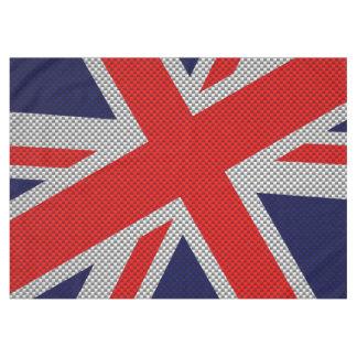 カーボン繊維のスタイル色の英国国旗 テーブルクロス