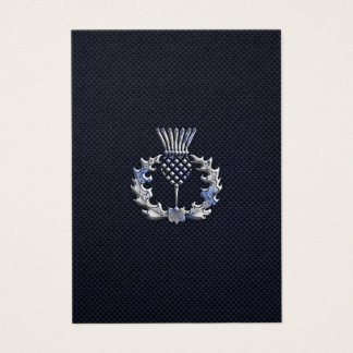 カーボン繊維のプリントのスコットランド人のアザミのクロム 名刺