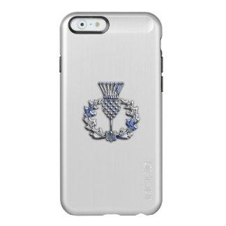 カーボン繊維のプリントのスコットランド人のアザミのクロム INCIPIO FEATHER SHINE iPhone 6ケース