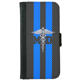 カーボン繊維のプリントの医者MDのケリュケイオン iPhone 6/6S ウォレットケース