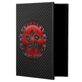 カーボン繊維のプリントの香港の赤い鋼鉄シール iPad AIRケース