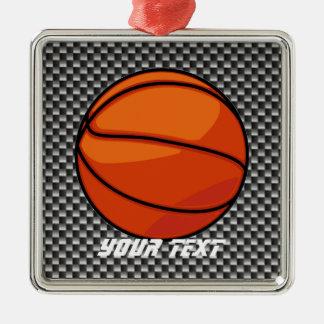 カーボン繊維の一見のバスケットボール メタルオーナメント