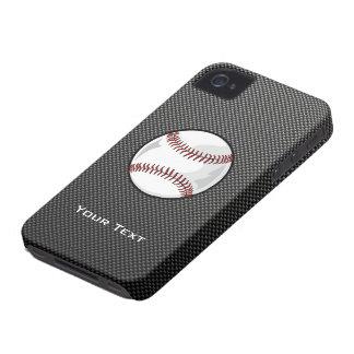 カーボン繊維の一見の野球 Case-Mate iPhone 4 ケース