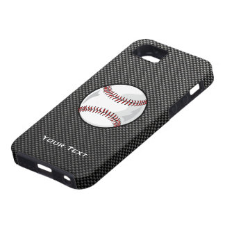カーボン繊維の一見の野球 iPhone SE/5/5s ケース