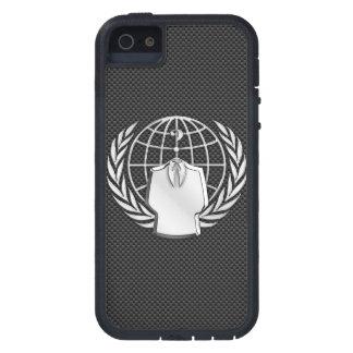 カーボン繊維の匿名のクロム iPhone SE/5/5s ケース