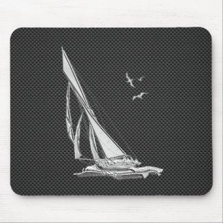 カーボン繊維の装飾の銀製のヨット マウスパッド