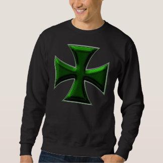 カーボン繊維の鉄の交差の緑 スウェットシャツ