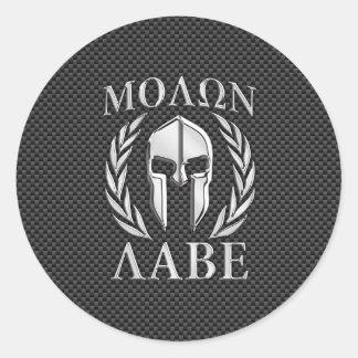 カーボン繊維のMolon Labeのクロムスパルタ式のヘルメット 丸型シール