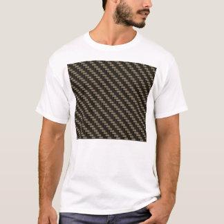 カーボン繊維パターン(のど) Tシャツ