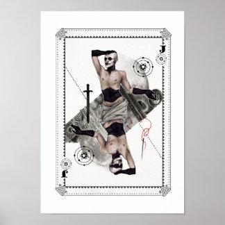 カーボン芸術のプリントのジャック ポスター