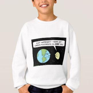 カーボン足跡の地球の月 スウェットシャツ