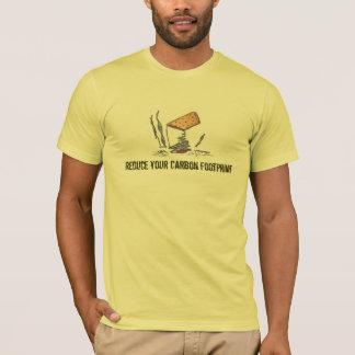カーボン足跡のTシャツ Tシャツ