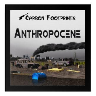 カーボン足跡- Anthropocene アクリルウォールアート
