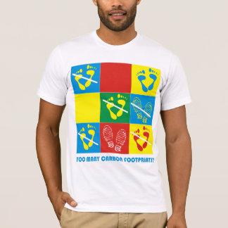 カーボン足跡 Tシャツ