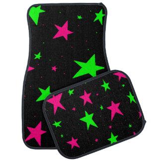 カーマットの星パターン緑およびピンクの星 カーマット