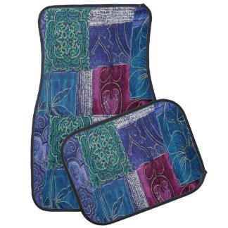カーマットの青い紫色の水のパッチワークセット カーマット