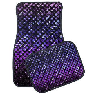 カーマット紫色の水晶きらきら光るなStrassのセット カーマット