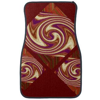 カーマット4の自動車-錆のパターンか紫色または白または緑 カーマット