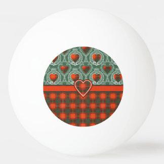 カーライルの一族の格子縞のスコットランドのキルトのタータンチェック 卓球ボール