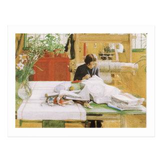 カーリンの裁縫 ポストカード