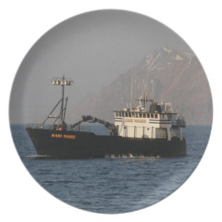 カーリMarieのオランダ港のカニの漁船 プレート