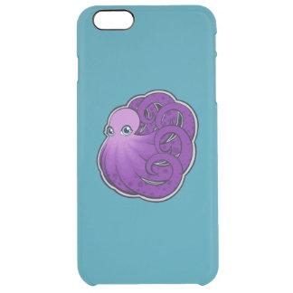 カールされた紫色はタコインクスケッチのデザインに斑点を付けました クリア iPhone 6 PLUSケース