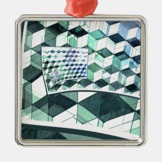 カールのカラフルな立方体 メタルオーナメント