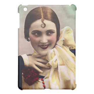 カールのヴィンテージの美しいはイメージをcolorized iPad mini カバー