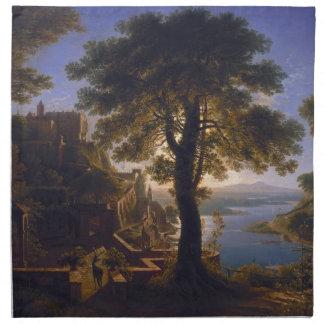 カールフリートリッヒSchinke著川1820年による城 ナプキンクロス