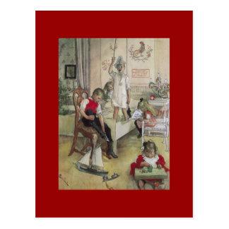 カールラーションのクリスマスの朝1894年 ポストカード