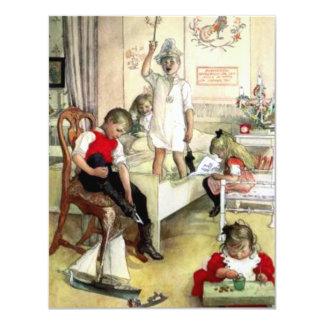 カールラーションのクリスマスの朝 カード