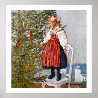 カールラーションのクリスマスツリーポスターファインアートのプリント プリント