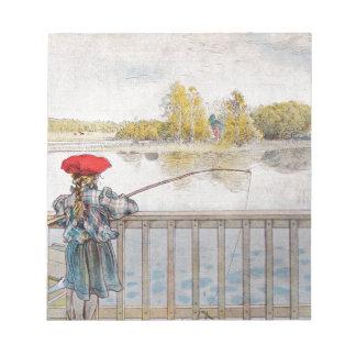 カールラーション著リスベートの魚釣り ノートパッド